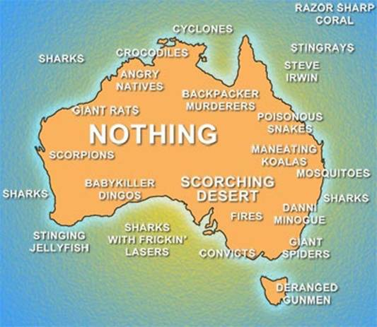 Australian Blogs, Australian Map, Map Of Australia, Australian Dangers