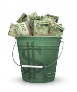 Bucket Of Cash