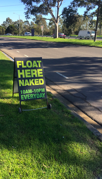 Floatation Tank Melbourne - Float Here Naked