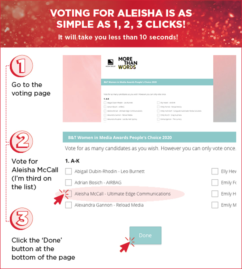 Aleisha McCall How To Vote